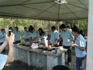 BBQ au parc Gucun, automne 2014