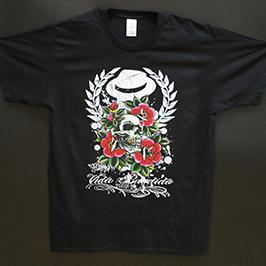 Exemple d'impression de t-shirt noir par l'imprimante textile numérique A1 WER-EP6090T