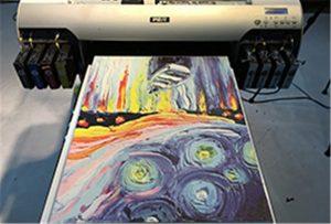 Échantillon de toile de l'imprimante UV A2 WER-EH4880UV