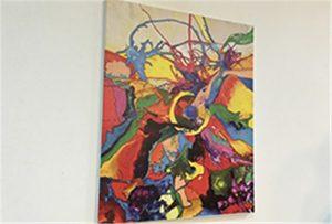 Echantillon de toile imprimé par une imprimante uv de format A1 WER-EP6090UV