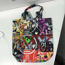 Echantillon d'impression de sac non-tissé par l'imprimante textile numérique A1 WER-EP6090T